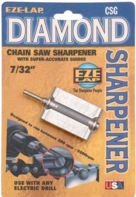 Eze-Lap Diamond Chain Saw Sharpener. Size 7/32""