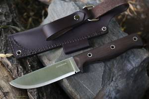Condor Swamp Romper Knife Walnut Handle, Leather Sheath
