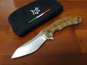 Fox Knives Jens Anso Flipper Santos Wood FX302ST