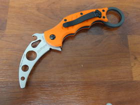 Fox Knives Training Karambit Folding Knife - Orange G10 FX599TK