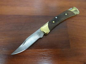 Buck The 55 Folding Hunter American Walnut Handles