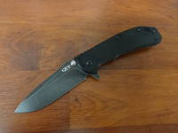 "Zero Tolerance Hinderer Flipper 3.25"" S35VN Blackwash, G10 Handle"