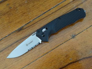 GANZO G716S Black PARTIALLY SERRATED