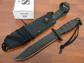 Ontario SP1 Marine Combat 8300 Fixed Knife w/sheath