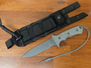 "Chris Reeve Green Beret Combat Knife Fixed 5.5"" S35VN, Micarta Handles"