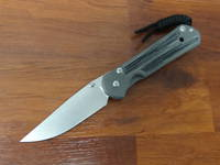 Chris Reeve Small Sebenza 21 , S35VN Stonewashed Blade, Titanium Handles w/ Black Canvas Micarta Inlays