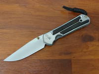 Chris Reeve Large Sebenza 21 Polished Blade, Titanium Handles w/ Macassar Ebony Wood Inlays