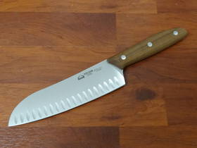 "Due Cigni - ""Serie 1896"" Santoku Knife Walnut Handle"