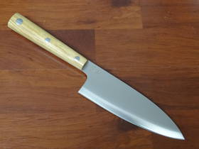 "Due Cigni  ""Hakucho"" Serie Deba Olive Wood Handle"