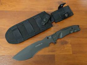 Fox Knives Parus Fixed Blade Knife & Survival Kit Black Forprene
