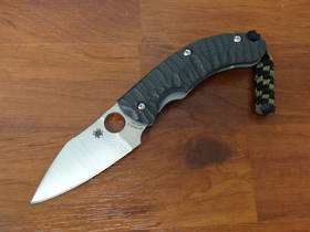 Spyderco Perrin PPT Folder, S90 Satin Plain Blade, Carbon Fiber Handles, Sprint Run