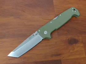 Cold Steel SR1 Folding Knife S35VN Tanto Blade, OD Green G10 Handles