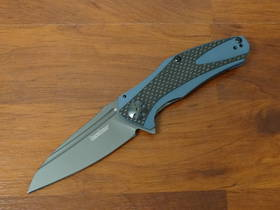 Kershaw Natrix Flipper Blue/Gray G10 Handles with Carbon Fiber Overlays