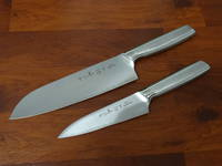 SAYAKA Japanese San Mai 3 layers Santoku & Utility Knife 2 pce set