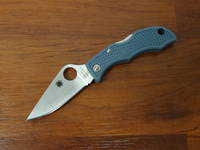 Spyderco Ladybug 3 V-Toku2/SUS410 Satin Plain Blade, Blue-Gray FRN Handles, Sprint Run LTD
