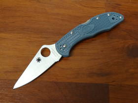 Spyderco Delica V-Toku2/SUS310 Satin Plain Blade Blue-Gray FRN Handles, Sprint Run LTD