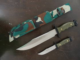 MUELA fixed blade hunting knife set - 7222P