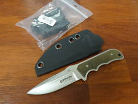 Boker Amico Fixed N690BO Satin Blade Micarta Knife GERMANY - 120612