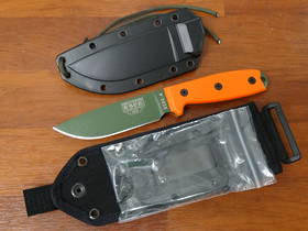 ESEE Model 4 Plain Edge Knife with Orange handles - 4PMBOD