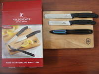 Victorinox Swiss Classic 4 Piece Prep Set with Cutting Board