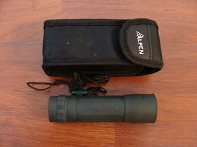 Alpen 8x21 Monocular Green Rubber Covered