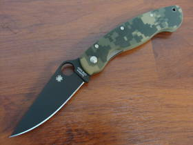 Spyderco Military S30V Camo Handle- Black Blade C36GPCMOBK