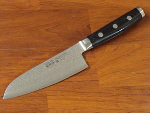 GOU Damascus Japanese Small Santoku Knife 125mm - 101 Layers