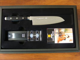 GOU Damascus Santoku 2PC Gift Set