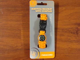 Ultimate Survival Compass Bracelet Orange
