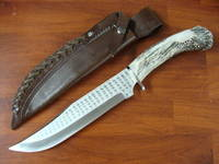 Silver Stag Big Bowie Tool Steel Knife