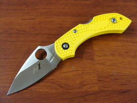 SPYDERCO DRAGONFLY2 H1 Salt Folding Knife Yellow