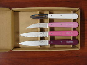 Opinel Essentials 4 Pce Knife Set Pink