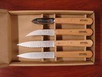 Opinel Essentials 4 Pce Knife Set Natural wood