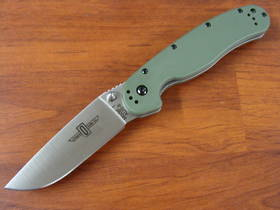 Ontario RAT M1 Folding Knife OD Green Handles