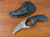 CRKT Kommer Bear Claw Rescue Knife - sharp tip Serrated