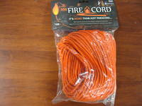 550 Fire Cord / Firecord 100ft - Safety Orange