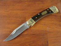 Buck 50th Anniv 110 Folding Hunter With CUSTOM EAGLE