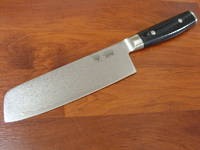RAN JAPANESE DAMASCUS NAKIRI KNIFE 180mm