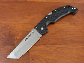 Cold Steel Large Voyager Tanto Folding Knife AUS-10A Stonewashed