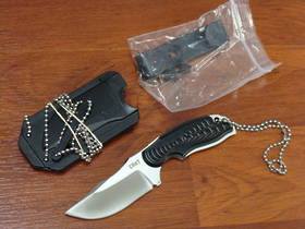 CRKT Flavio Ikoma Civet Neck Knife w/ Sheath Clip Point Blade