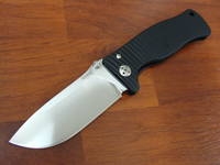 Lion Steel SR-1 Folding Knife D2 Steel, Black Aluminum Handle