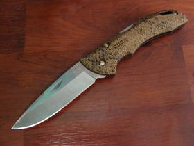 Buck Bantam BHW Copperhead Snakeskin Folding Knife No Thumbstud