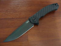 Zero Tolerance Dmitry Sinkevich Flipper Black Blade, Carbon Fiber/ Titanium Handles