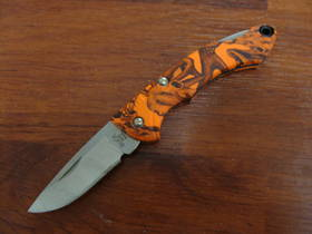Buck Nano Bantam Orange Camo