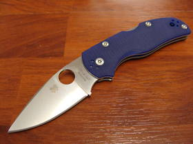 Spyderco Native 5 Folding Knife S110V Blade, Blue G10 Handles