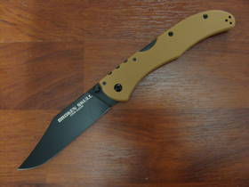 "Cold Steel Broken Skull II Folding Knife 4"" CTS-XHP, Coyote Tan G10 Handles"