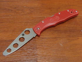 Spyderco Endura Trainer Red FRN Handles