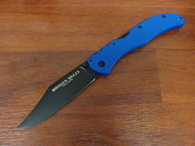 "Cold Steel Broken Skull IV Folding Knife 4"" CTS-XHP, Blue G10 Handles"