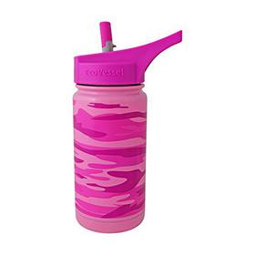 Eco Vessel Frost Kids Insulated Water Bottle w/Strw Pnk 13oz
