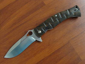 Fox Knives Citadel Deimos Folder Knife Ziricote Wood N690Co Steel FX0110W